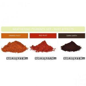 Kromlech   Weathering Powders Weathering Powder Set - Rust Effects - KRMA016 - 5902216112193
