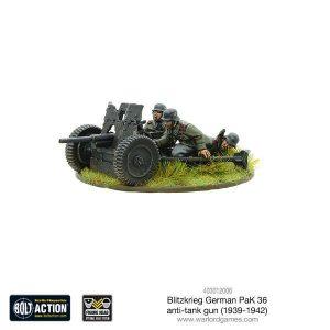 Warlord Games Bolt Action  Germany (BA) Blitzkrieg German Pak 36 anti-tank gun - 403012006 - 5060393706694