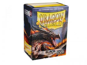Dragon Shield   Dragon Shield Dragon Shield Sleeves Non-Glare Matte Black (100) - DS100NGMB - 5706569118020