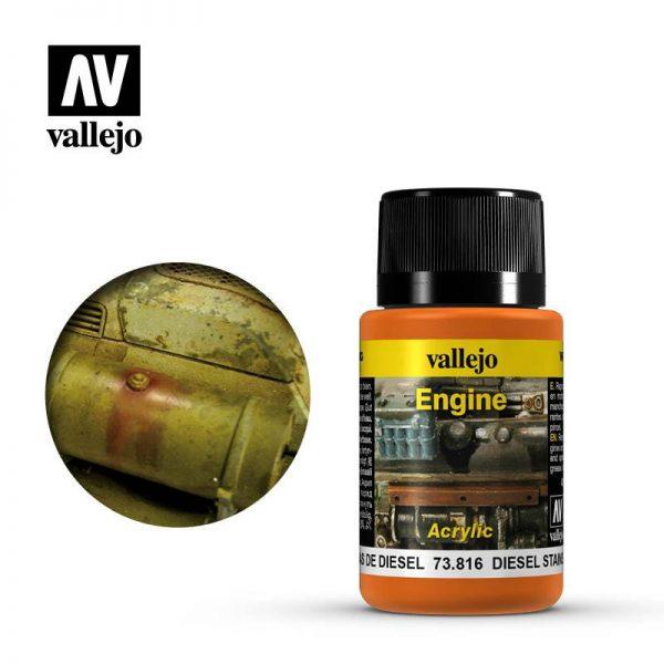 Vallejo   Weathering Effects Weathering Effects 40ml - Diesel Stain - VAL73816 - 8429551738163