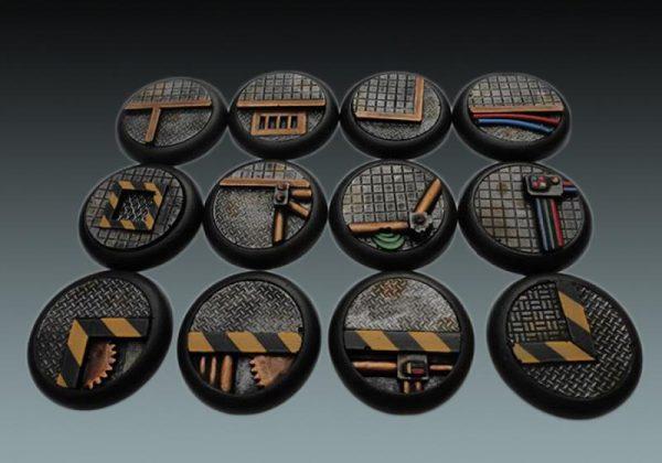 Baker Bases   Sci-fi Bases Sci-Fi: 30mm Wround Bases (12) - CB-SF-03-30M - CB-SF-03-30M