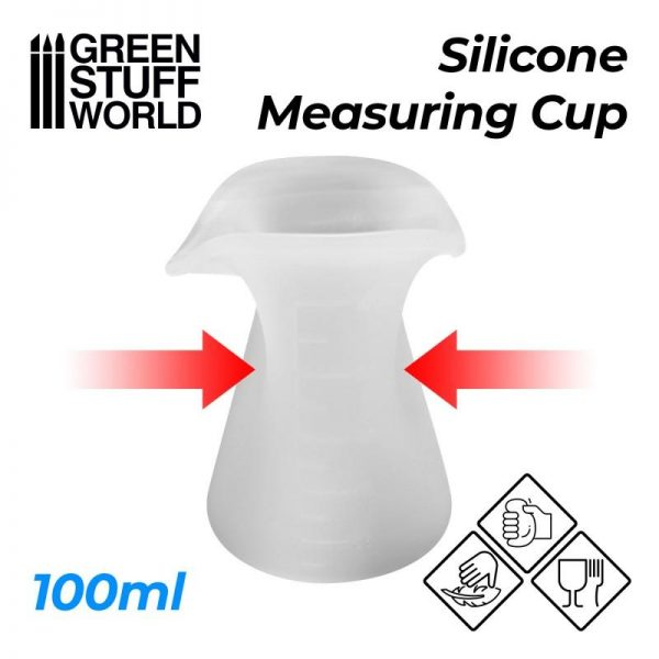 Green Stuff World   Mold Making Silicone Measuring Cup 100ml - 8436574507768ES - 8436574507768
