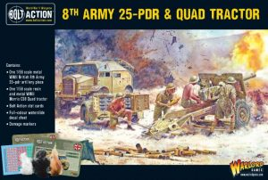 Warlord Games Bolt Action  Great Britain (BA) 8th Army 25pdr, Quad and limber - 402211001 - 5060572502314