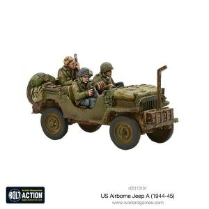 Warlord Games Bolt Action  United States of America (BA) US Airborne Jeep (1944-45) - 405113101 - 5060393709336