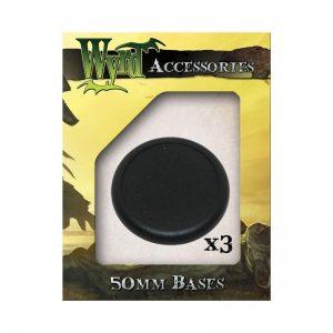 Wyrd   Malifaux Accessories Black 50mm Premium Plastic Bases - 3 Pack - WYR0019 - 813856010808