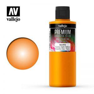 Vallejo   Premium Airbrush Colour AV Vallejo Premium Color - 200ml - Candy Dark Yellow - VAL63072 - 8429551630726