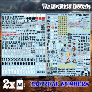 Green Stuff World   Decals Waterslide Decals - Tactical Numerals and Pinups - 8436574503999ES - 8436574503999