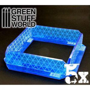 Green Stuff World   Green Stuff World Terrain 5x Small Energy Walls - Intense Blue - 8436554363889ES - 8436554363889