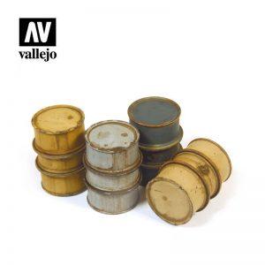 Vallejo   Vallejo Scenics Vallejo Scenics - 1:35 German Fuel Drums 1 - VALSC201 - 8429551984713