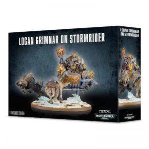 Games Workshop (Direct) Warhammer 40,000  Space Wolves Logan Grimnar on Stormrider - 99120101115 - 5011921052448