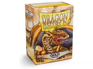 Dragon Shield   Dragon Shield Dragon Shield Sleeves Matte Gold (100) - DS100MG - 5706569110062