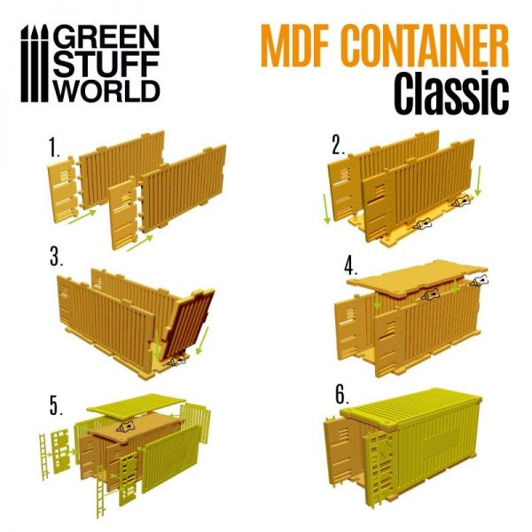 Green Stuff World   Green Stuff World Terrain Classic Shipping Container - 8436574508185ES - 8436574508185
