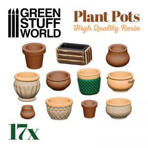Green Stuff World   Green Stuff World Conversion Parts Plant POT Resin set - 8435646504544ES -