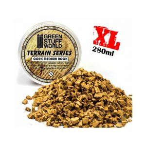 Green Stuff World   Sand & Flock Medium Rock Basing Grit - 280 ml - XL - 8436554365807ES - 8436554365807