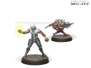 Corvus Belli Infinity  Nomads Zeros (Combi Rifle/Hacker) - 280587-0661 - 2805870006613