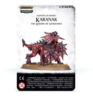 Games Workshop (Direct) Warhammer 40,000 | Age of Sigmar  Blades of Khorne Karanak, The Hound of Vengeance - 99079915006 - 5011921113187