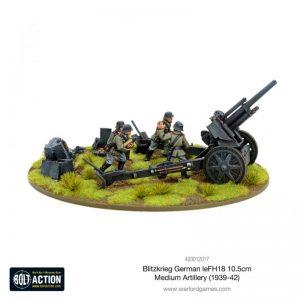 Warlord Games Bolt Action  Germany (BA) Blitzkrieg German leFH 18 10.5cm medium artillery (1939-42) - 403012017 - 5060572501744