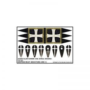 Gripping Beast SAGA  SAGA Milites Christi Hospitaller Banners & Shield transfers - LBMS SAGA SMO 99B -