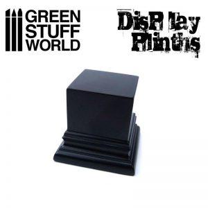 Green Stuff World   Display Plinths Square Top Display Plinth 4x4 cm - Black - 8436574501728ES - 8436574501728