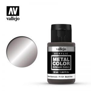 Vallejo   Metal Colour Metal Color - Burnt Iron 32ml - VAL77721 - 8429551777216