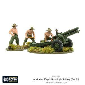 Warlord Games Bolt Action  Australia (BA) Australian short 25-pdr (Pacific) - 403015019 - 5060393707417