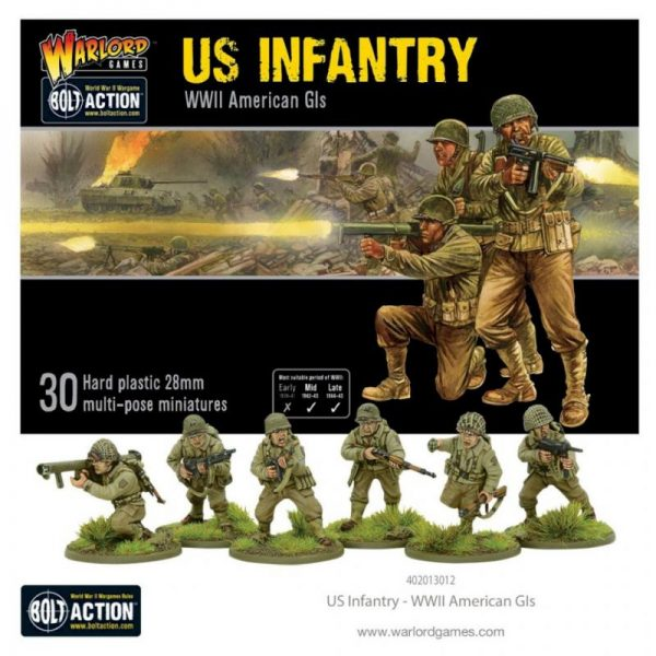 Warlord Games Bolt Action  United States of America (BA) US Infantry - WWII American GIs - 402013012 - 5060572500327