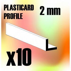 Green Stuff World   Plasticard ABS Plasticard - Profile ANGLE-L 2 mm - 8436554367344ES - 8436554367344