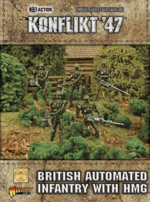 Warlord Games Konflikt '47  SALE! British Automated Infantry with HMG - 452410601 - 5060393705048