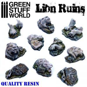 Green Stuff World   Green Stuff World Conversion Parts Lion Ruins - 8436574500509ES - 8436574500509
