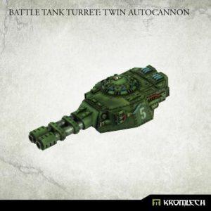 Kromlech   Imperial Guard Conversion Parts Battle Tank Turret: Twin Autocannon (1) - KRVB090 - 5902216119802