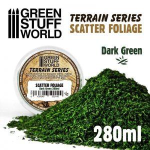 Green Stuff World   Lichen & Foliage Scatter Foliage - Dark Green - 280ml - 8435646500140ES - 8435646500140