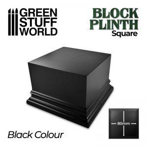 Green Stuff World   Display Plinths Square Top Display Plinth 8x8 cm - Black - 8435646500669ES - 8435646500669