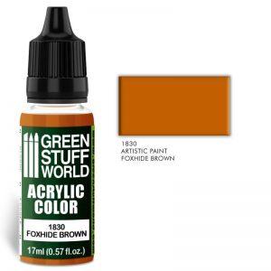 Green Stuff World   Acrylic Paints Acrylic Color FOXHIDE BROWN - 8436574501896ES - 8436574501896
