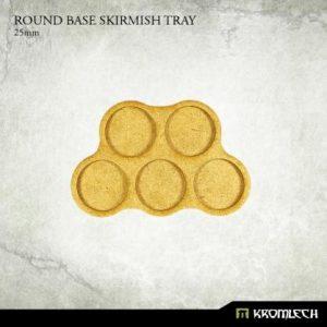 Kromlech   Movement Trays Round Base Skirmish Tray 25mm (6) - KRHB029 - 5902216114869