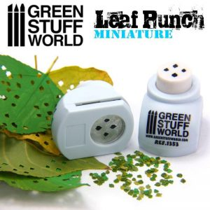 Green Stuff World   Stamps & Punches Miniature Leaf Punch LIGHT BLUE - 8436554363537ES - 8436554363537