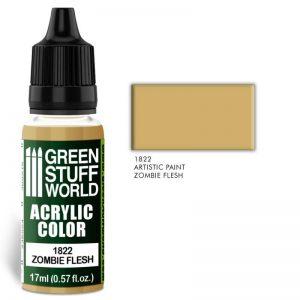 Green Stuff World   Acrylic Paints Acrylic Color ZOMBIE FLESH - 8436574501810ES - 8436574501810