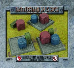 Gale Force Nine   Battlefield in a Box Galactic Warzones: Storage Crates - BB586 - 9420020241428