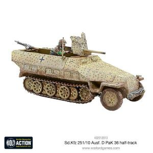 Warlord Games (Direct) Bolt Action  Germany (BA) German Sd.Kfz 251/10 Ausf D (37mm PAK) Halftrack - 402012013 - 5060393702269