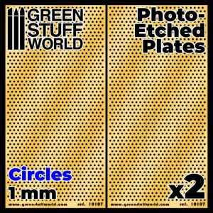 Green Stuff World   Etched Brass Photo-etched Plates - Large Circles - 8436574506068ES - 8436574506068