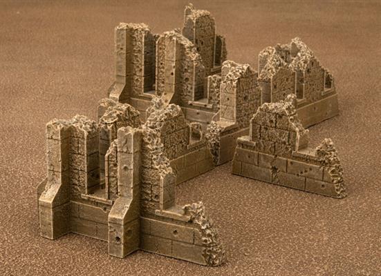 Gale Force Nine   Battlefield in a Box Gothic Battlefields - Ruined Walls - Sandstone - BB614 - 9420020248939
