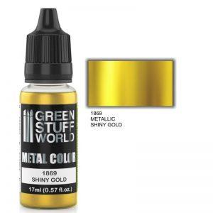 Green Stuff World   Acrylic Metallics Metallic Paint SHINY GOLD - 8436574502282ES - 8436574502282
