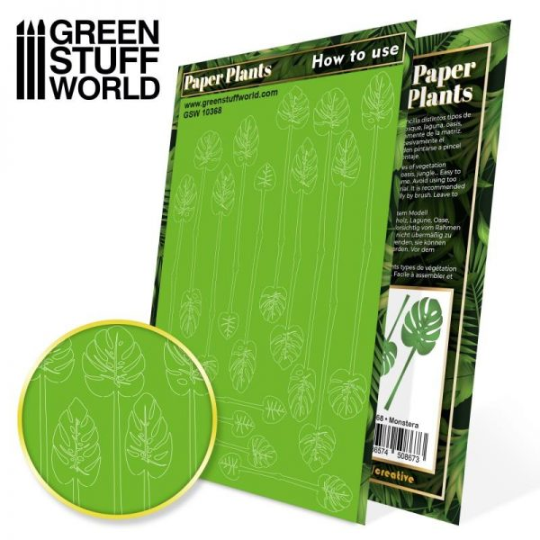 Green Stuff World   Plants & Flowers Paper Plants - Monstera - 8436574508673ES - 8436574508673