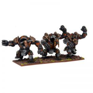 Mantic Kings of War  Abyssal Dwarves Lesser Obsidian Golems - MGKWK23-1 - 5060208865387