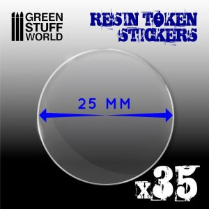 Green Stuff World   Infinity Tokens 35x Resin Token Stickers 25mm - 8436574503944ES - 8436574503944