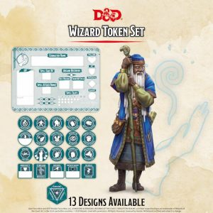 Gale Force Nine Dungeons & Dragons  D&D Extras D&D: Wizard Token Set (Player Board & 22 tokens) - GFN72501 - 9420020251076