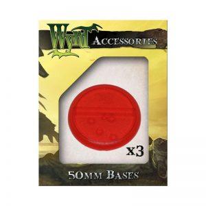 Wyrd   Translucent Bases Red 50mm Translucent Bases - 3 Pack - WYR0048 - 813856013830