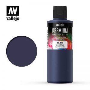 Vallejo   Premium Airbrush Colour AV Vallejo Premium Color - 200ml - Opaque Dark Blue - VAL63011 - 8429551630115