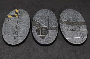 Baker Bases   Concrete Concrete: 90x52mm Oval Bases (3) - CB-CN-01-90v - CB-CN-01-90v