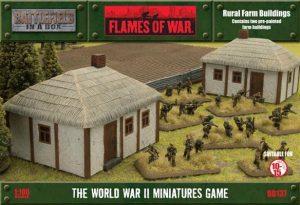 Gale Force Nine   Battlefield in a Box Flames of War: Rural Farm Buildings - BB137 - 9420020219397