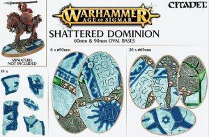 Games Workshop   Games Workshop Bases Shattered Dominion (60mm & 90mm) - 99120299035 - 5011921073139